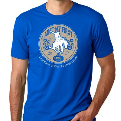 """CCMF """"Ain't My First Rodeo"""" Tee – Blue"""