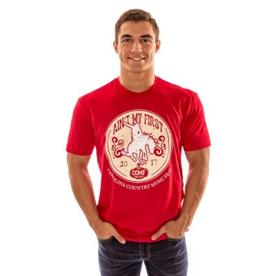 """CCMF """"Ain't My First Rodeo"""" Tee – Red"""