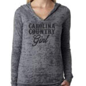 CC Girl Burnout Light Weight Hoodie – Black