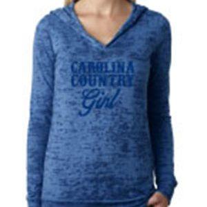 CC Girl Burnout Light Weight Hoodie – Blue