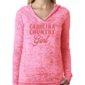 CC Girl Burnout Light Weight Hoodie – Pink