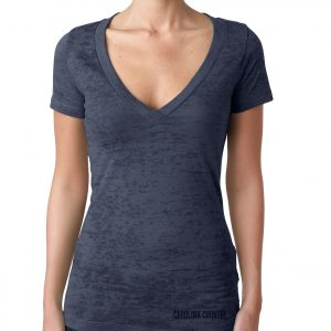 Carolina Country Ladies Deep V Burnout T-Shirt – Indigo