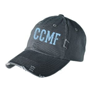CCMF Distressed Hat – Black
