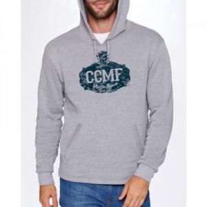 CCMF Pullover Distressed Hoodie – Grey