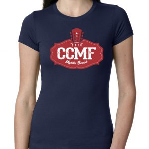 2016 CCMF Ladies Crew T-Shirt – Navy