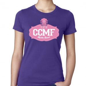 2016 CCMF Ladies Crew T-Shirt – Purple