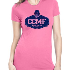 2016 CCMF Ladies Crew T-Shirt – Pink
