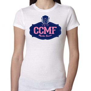 2016 CCMF Ladies Crew T-Shirt – White