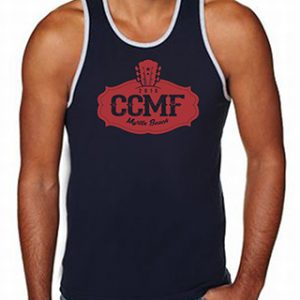 2016 CCMF Men's Tank Top – Navy-Grey