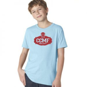 2016 CCMF Crew Neck Youth T-Shirt – Light Blue