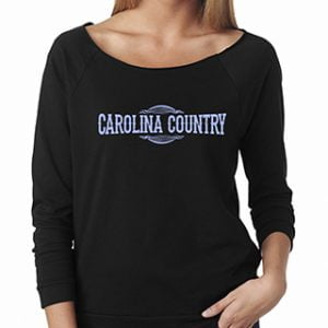 3/4 Carolina Country Raglan T-Shirt – Black