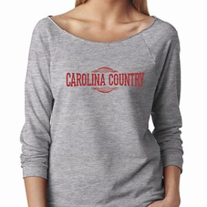 3/4 Carolina Country Raglan T-Shirt – Heather Grey