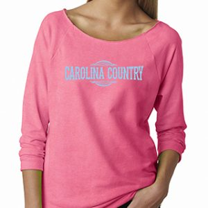 3/4 Carolina Country Raglan T-Shirt – Pink