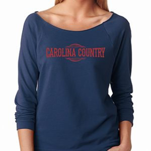 3/4 Carolina Country Raglan T-Shirt – Indigo