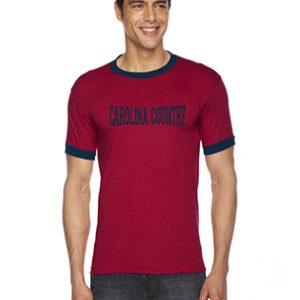 Carolina Country Ringer T-Shirt – Red