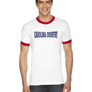 Carolina Country Ringer T-Shirt – White