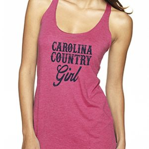 Carolina Country Girl Tank Top – Vintage Pink