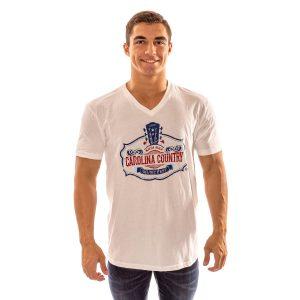 CCMF Distressed V-Neck Tee – White