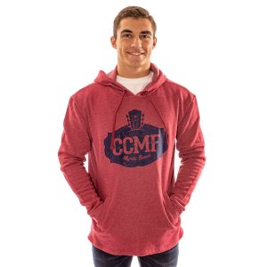CCMF Pullover Distressed Hoodie – Red