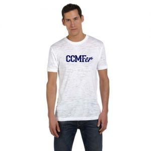 CCMFer Burnout Crew T-Shirt – White