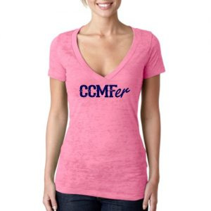 CCMFer Deep V Burnout – Hot Pink
