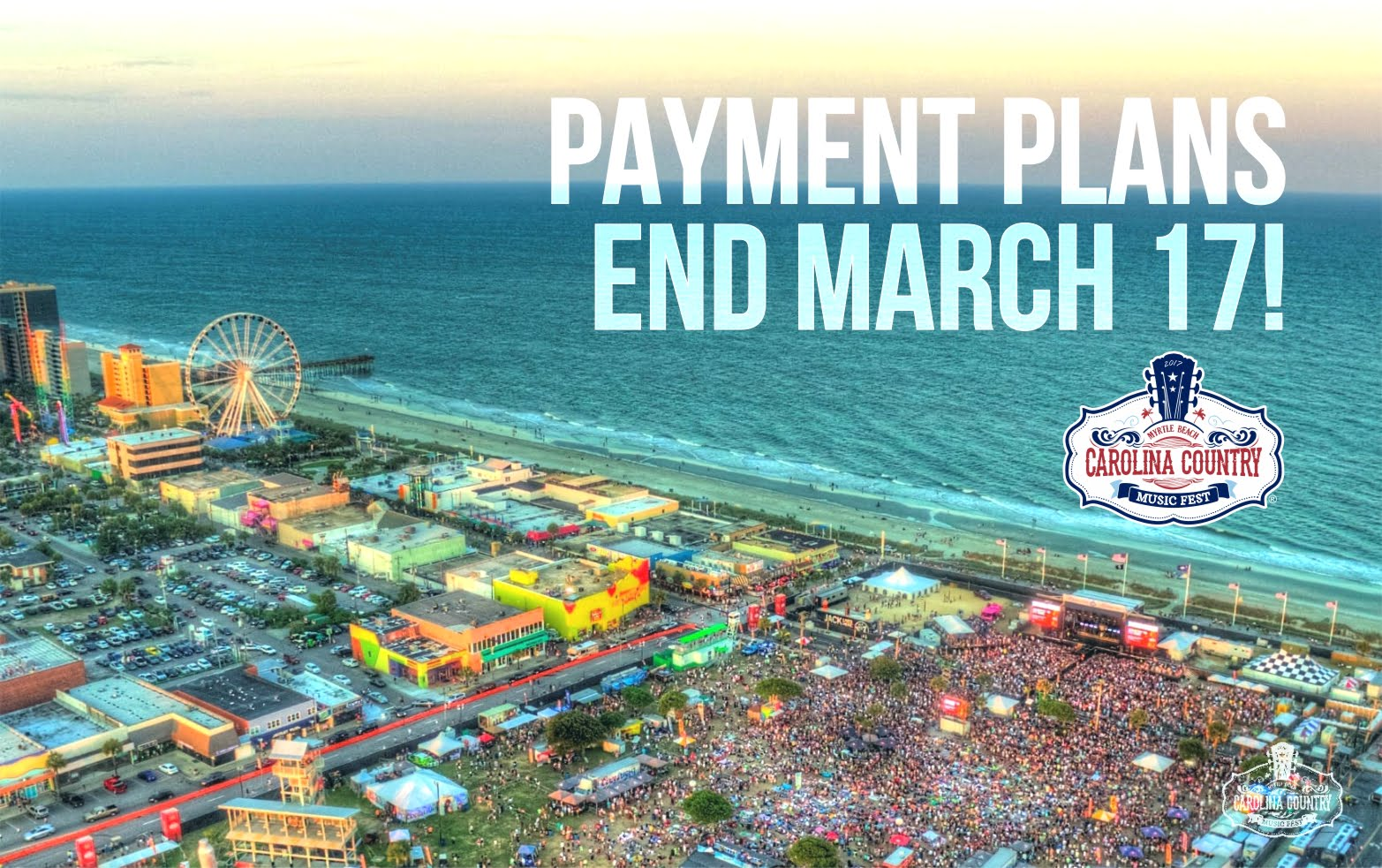 Carolina Country Payment Plan Option ENDS March 17, 2017 at Midnight