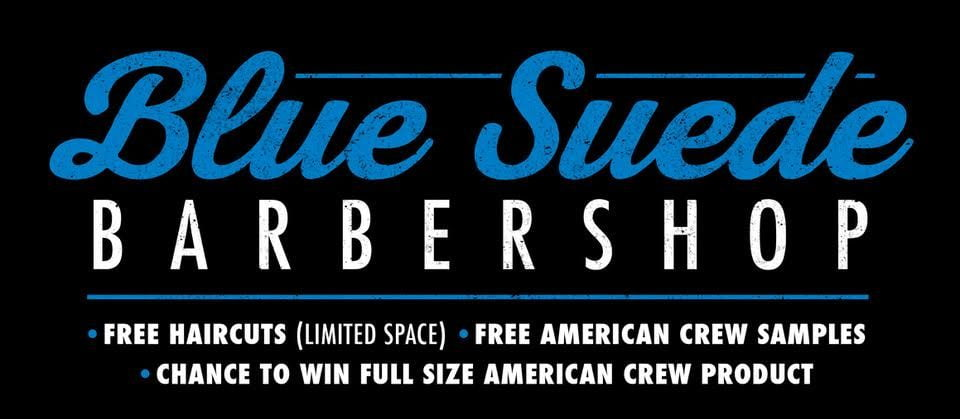 American Crew – Blue Suede Barber Shop coming to CCMF!