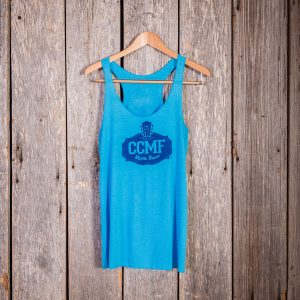 2017 CCMF Vintage Ladies Tank – Turquoise