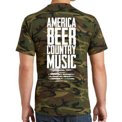 America, Beer, Country Music – Men's T-Shirt – Camo