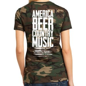 America, Beer, Country Music – Women's T-Shirt – Camo