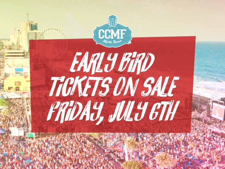 Early Bird Tickets on Sale Friday, July 6th!