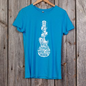CCMF 2018 Lineup Guitar Ladies T-Shirt – Teal