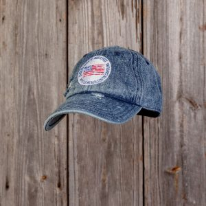 CCMF DISTRESSED FLAG BADGE HAT – Denim