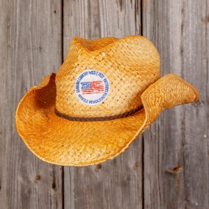CCMF DISTRESSED FLAG BADGE COWBOY HAT