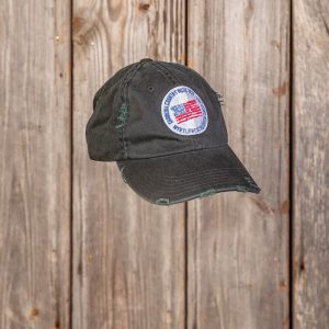 CCMF DISTRESSED FLAG BADGE HAT – Black
