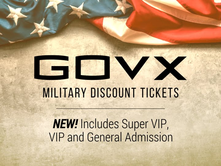 GOVX Military Discount Tickets Available Now!
