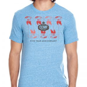 CCMF 5yr Anniversary Guitar T-Shirt – Royal Blue