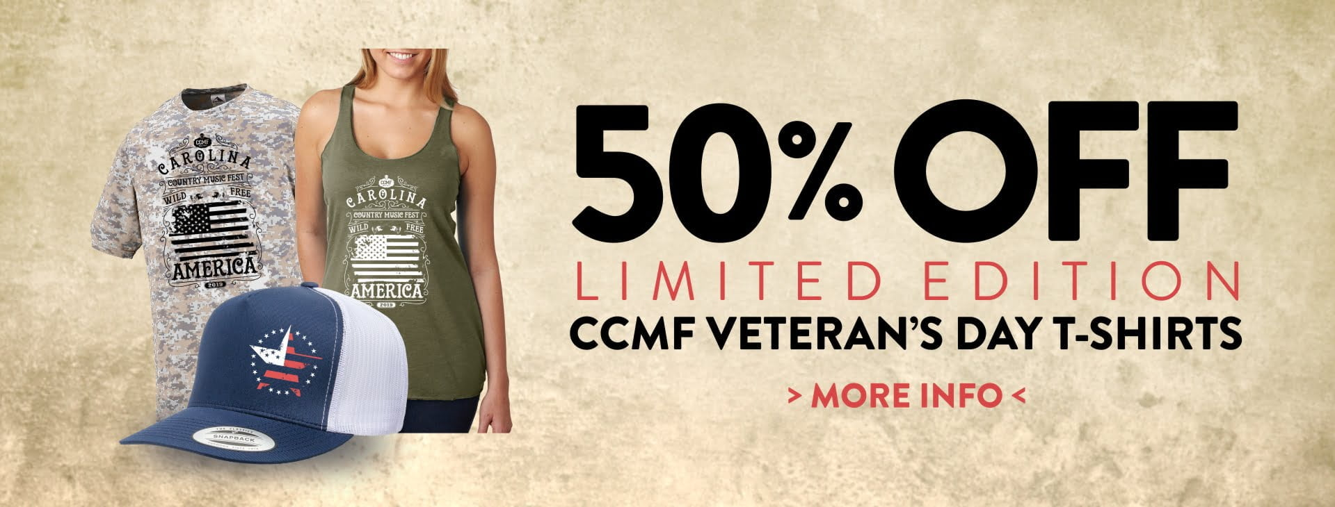 Save on Limited Edition Veteran's Day CCMF Gear