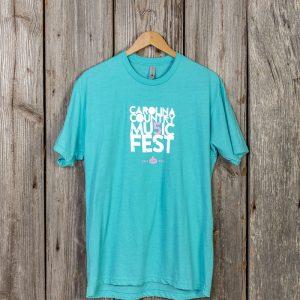 Carolina Country Mu5ic Fest T-shirt – Tahiti Blue
