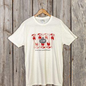 CCMF 5yr Anniversary Guitar T-Shirt – White