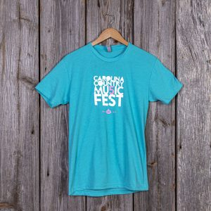 Carolina Country Mu5ic Fest T-shirt – Tahiti Blue