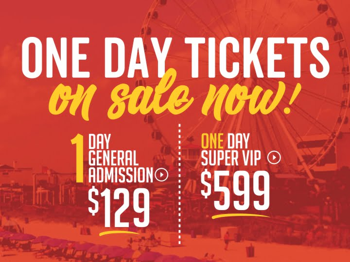 One Day Tickets On Sale Now CCMF 2019!