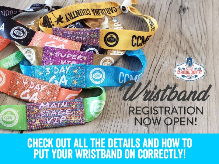 Wristband Registration Now Open CCMF 2019!