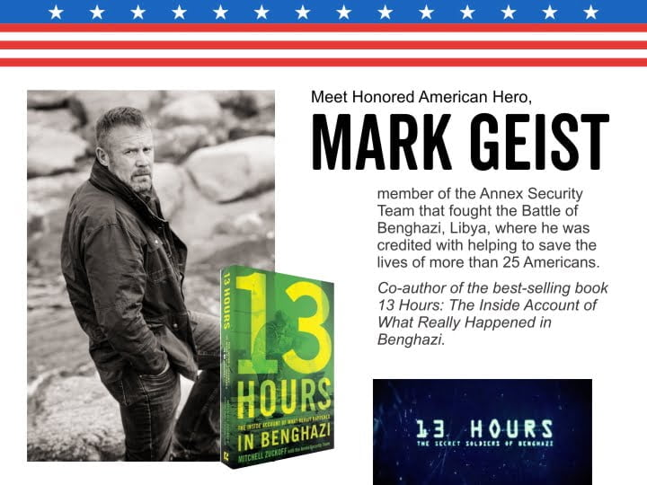 Meet American Hero, Mark Geist at Carolina Country Music Fest