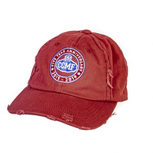 CCMF 5yr Red Distressed Cap