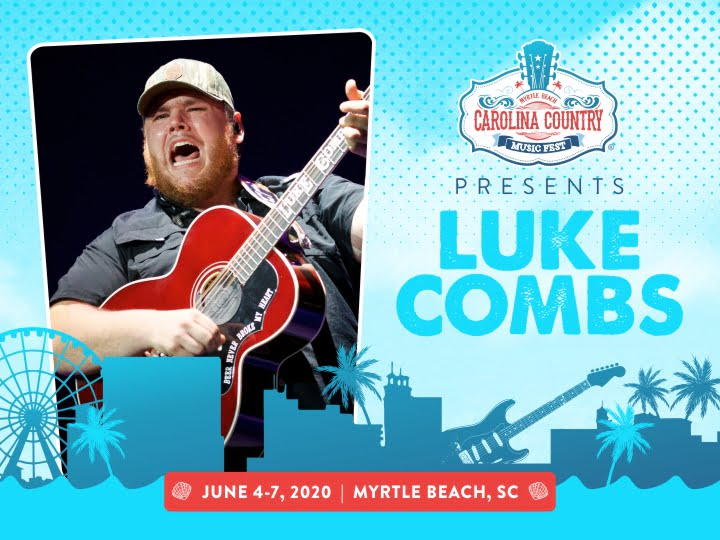 Presenting our First Headliner for CCMF 2020: LUKE COMBS!