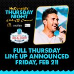 Full Line Up for the McDonald's Thursday Night Kick-Off Concert with Jake Owen Announced February 21!