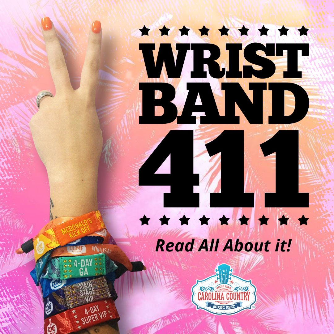 WRISTBANDS ARE SHIPPING MONDAY, MAY 10!